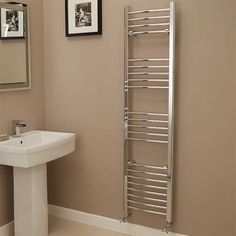 Eco Heat x Curved Chrome Heated Towel Rail. A beautifully curved towel rail, that is both amazing quality and cost efficient. The sophisticated, curved towel rail is ideal for any bathroom style, manufactured to the highest standard. Better Bathrooms, Amazing Bathrooms, Chrome Towel Rail, Heated Towel Rail, Shower, Storage, Bathroom Ideas, Laundry, Home Decor