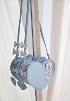Morning Glory -Fix of Love- PU Version Sweet Lolita Bag Kawaii Bags, Kawaii Clothes, Stylish Backpacks, Cute Backpacks, Bag Women, Kawaii Accessories, Accesorios Casual, Cute Purses, Girls Bags