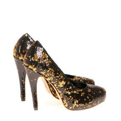 Kathryn Amberleigh gold+black mixed sequins Automne-Hiver 2012