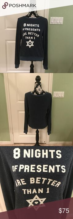 Wildfox 8 presents better than 1 sweatshirt NWOT Brand new never worn. Has piling like most wildfox pieces . Super soft and  lightweight Wildfox Tops Sweatshirts & Hoodies