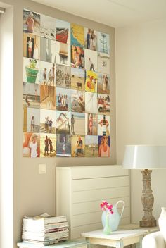 Ixxi photo collage - keep your holiday pics close or the logos of your clients in the office