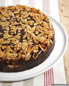 """This delicious recipe for chocolate almond upside-down cake is courtesy of Gale Gand and can be found in her cookbook, """"Chocolate and Vanilla."""""""