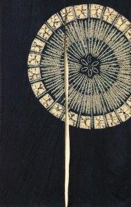 Noren, Japanaese Umbrella on Blue - Eastern Classics