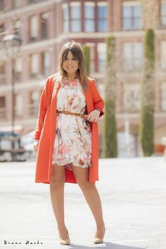 Cute Dress Outfits, Cute Dresses, Summer Dresses, Beautiful Clothes, Beautiful Outfits, Zara, Color Naranja, Special Girl, Mini Skirts
