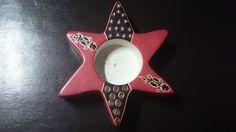 6,50€ Portavelas ocre de estrella