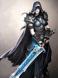 Female Death Knight Concept Art This is what I'd cosplay. I like a full suit. That way nothing hangs out!
