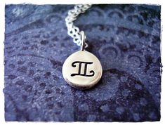 Silver Gemini Horoscope Sign Necklace  by EvelynMaeCreations, $25.00