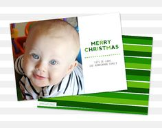 Photo Christmas Card  Double Sided Holiday by paperheartprints