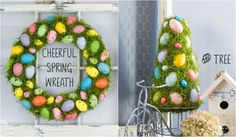 Cheerful Spring Wreath and Tree