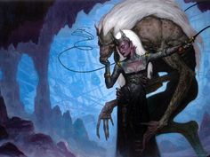 Draegloth_and_Drow_by_Brom-(2002-12)_WOTC_Forgotten_Realms_Novel_-_Insurrection_(WTC288613000).jpg (1024×768)