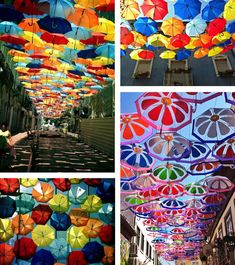 Agueda, Portugal's Umbrella Sky Project - via This City Life