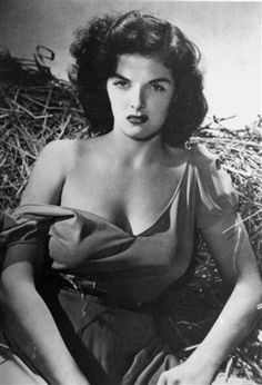 Jane Russell + her fabulous decolletage #examiner  Golden oldie - didn't have to be stick thin!  - shared by http://sassycurves.com