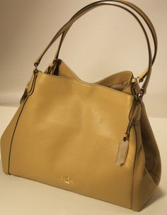 NWT COACH 33547 EDIE SHOULDER BAG IN PEBBLED LEATHER NUDE  Coach   ShoulderBag e3f8c75504604