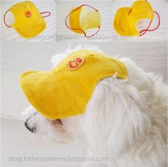 Free Dog Clothes Patterns: Dog cap pattern - maybe another to fit a toy giraffe???