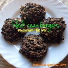 black bean burgers - fat free, gluten-free, & vegetarian