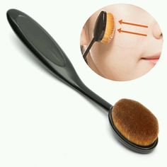 Black Oval 6 Professional Makeup Brush Foundation BB Cream Blush in Health & Beauty, Makeup, Makeup Tools & Accessories | eBay