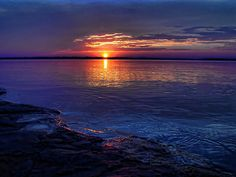 sunset on Lake Eufaula, Oklahoma -