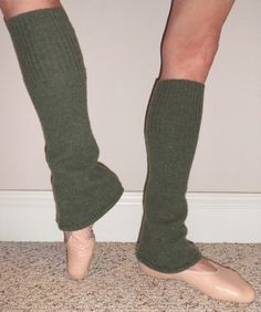 leg warmers/dance wear/ yoga wear/ spats in luxurious bohemian olive green cashmere Do you like these kind of Leg Warmers Diana??