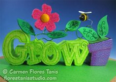 "Carve up some springtime décor with Smoothfoam – ""Grow"""