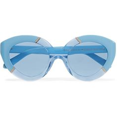 bf000a55411 Karen Walker - Poolside Flowerpatch Cat-eye Acetate Sunglasses ( 105) ❤  liked on