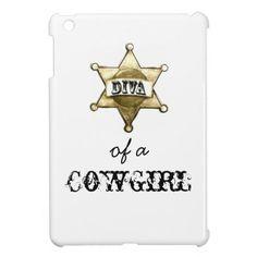 """DIVA of a Cowgirl"" iPad Mini Cases"
