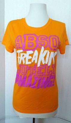 9e1b3780556b NIKE Dri-Fit T shirt Womens size Small ABSO FREAKIN LUTELY AMAZING Orange