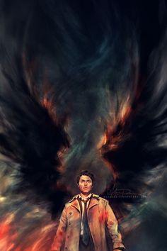 Supernatural / my hands down favourite piece of Castiel art