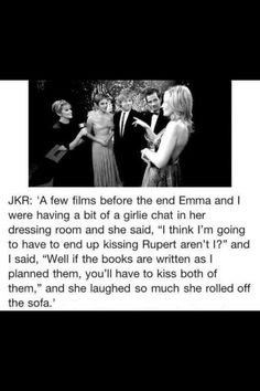 Joanne K Rowling and Emma Watson Harry Potter Jokes, Harry Potter Cast, Harry Potter Universal, Harry Potter Fandom, Joanne K Rowling, Draco Malfoy, Hogwarts, Scorpius And Rose, Tolkien