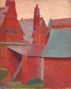 thesavagesgallery:    Malcom Drummond(1880-1945)  Boyne Hill Vicarage, Maidenhead, c.1910. Oil on canvas.  Tate Britain.