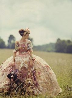 Every girl should wear a beautiful dress like this once in her life. Fairytale princess.  (Dolce & Gabbana) Vogue UK