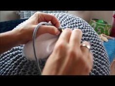 Пуф Ч3 - YouTube Crochet Pouf Pattern, Knitted Pouf, Crochet Beret, Crochet Yarn, Knot Cushion, Knot Pillow, Puff Stitch Crochet, Knitting Patterns, Crochet Patterns