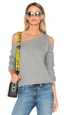 d8151776530cb5 Shop for RtA Willow Sweatshirt in Iron at REVOLVE.