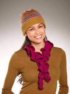 Free Crochet Pattern L10488 Sparkle Ruffle Scarf : Lion Brand Yarn Company