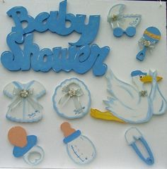 Set  de baby shower en unicel