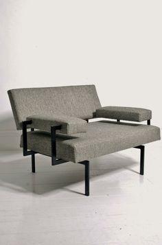 Cees Braakman Pastoe. 1950s modernist armchair. Beton Brut shop