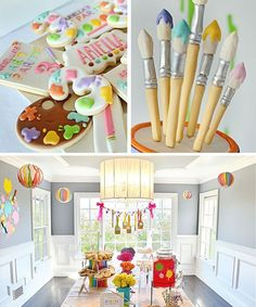 Decoração de festa infantil tema Artes