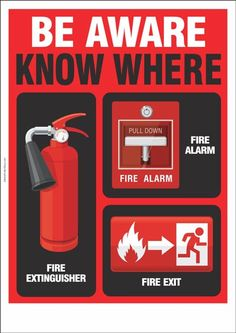 Fire Safety Poster: Be Aware