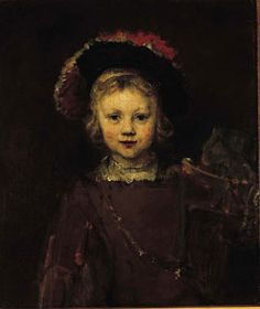 Rembrandt van Rijn paints his son Titus twice - above aged 6 in and then again eleven years later. Titus was the only one of Rembrandt's four children to survive to adulthood, and died. Rembrandt Portrait, Rembrandt Paintings, Monet, Vincent Van Gogh, List Of Paintings, Norton Simon, Dutch Golden Age, Dutch Painters, Dutch Artists