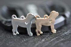 4-pack Tibetaanse Mastiff hond Charms antieke door SumptuousCharm