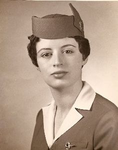 Bronwen Roberts in a 1958 Pan Am graduation photo.