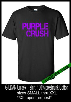 Baltimore RAVENS. Purple Crush. Unisex cotton T by pinkboxstudio, $20.00