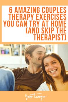 When couples seek marriage counseling or couples therapy, it can seem daunting and expensive. But instead of going to a therapist, there are 6 exercises you can try at home together. #marriagecounseling