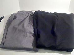 Puritan Lot 2 Mens Dress Pants 38 x 32  Black Gray 100% Polyester #Puritan #DressPleat