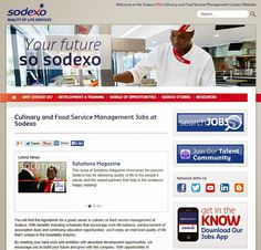 Sodexo USA Careers Blog: Sodexo Launches New Career Website for Chefs and Food Service Managers