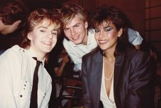 Nick Rhodes, John Taylor, and Julie Anne Friedman. Gorgeous people