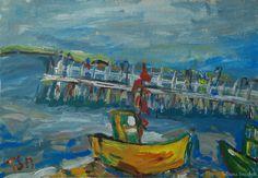 Sea at Poland - Tetyana Snezhyk painting