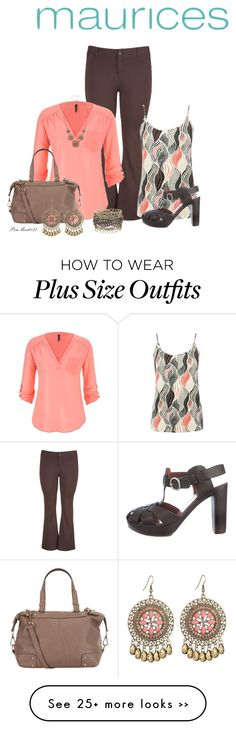 """Maurices Perfect Blouse"" by penny-martin on Polyvore featuring maurices, M&Co and See by Chloé"