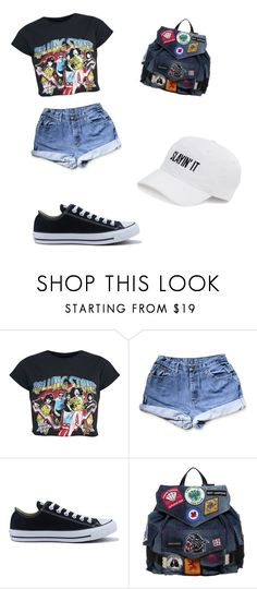 """BACKPACK STYLE"" by sarahmilner ❤ liked on Polyvore featuring Converse, Dsquared2 and SO"