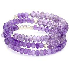 MINU Jewels Amethyst Stack Bracelet
