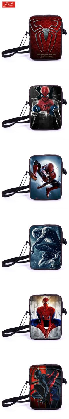 Young Men Travel Bag Hero Spiderman Prints Boys Mini Crossbody Bag Kids  School Bags Bookbag Children Messenger Bags Best Gift  12.7 de515a7864a52
